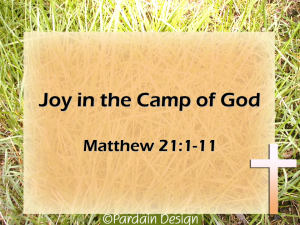 ECGBC sermon - Joy in the Camp of God